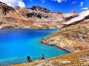 Mountain Biking past Columbine Lake