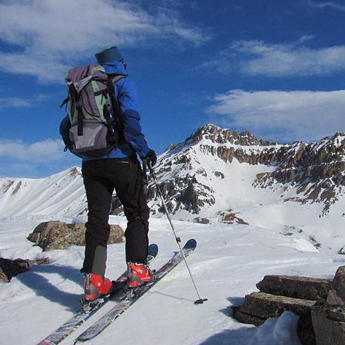 Backcountry skiing silverton co