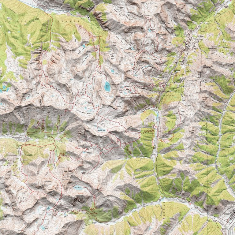 San Juan Mountain hiking map